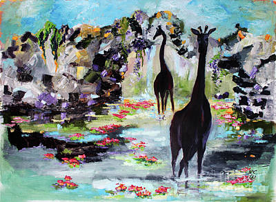 Painting - Travel Log 12 The Enipsenocs by Ginette Callaway
