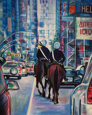 Cop Painting - Travel Notebook. New York. Third Day by Anna  Duyunova