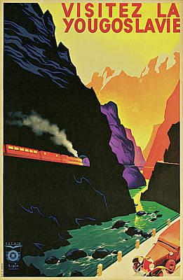 Visitez La Yougoslavie Art Print