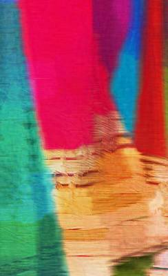 Photograph - Travel Shopping Colorful Scaves Abstract Series India Rajasthan 1c by Sue Jacobi