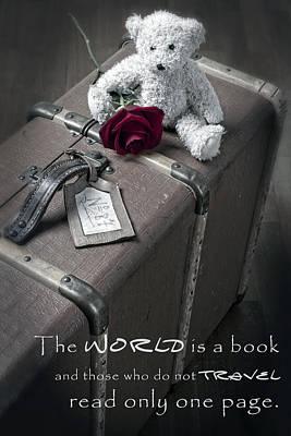 Teddybear Photograph - Travel The World by Joana Kruse