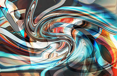 Digital Art - Travel Through To The Other Side by rd Erickson