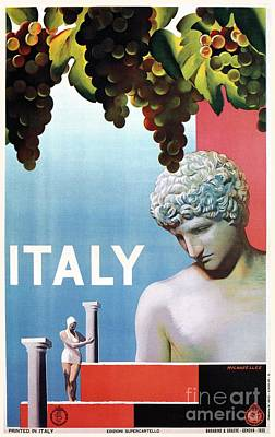 Blue Grapes Drawing - Travel To Italy In 1935 by Aapshop