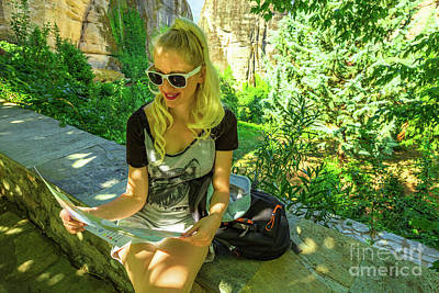 Photograph - Travel Tourist Woman by Benny Marty