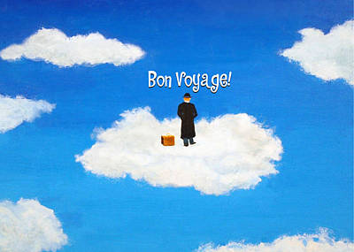 Painting - Traveler - Bon Voyage - Greeting Card by Thomas Blood