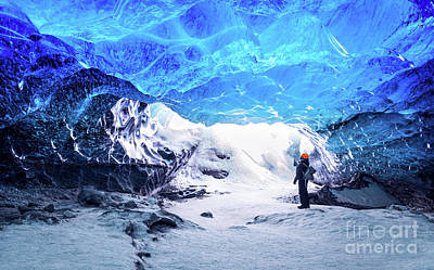 Photograph - Traveler In Ice Cave by Anna Om