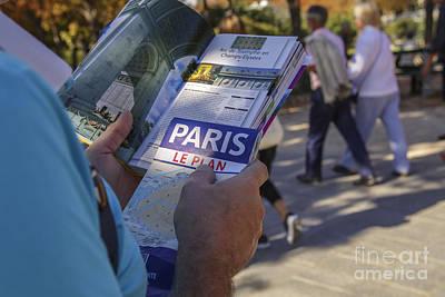 Photograph - Traveler In Paris by Patricia Hofmeester