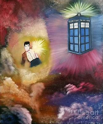 Dr. Who Painting - Traveler by Roxane Gabriel