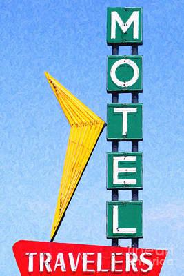 Tulsa Oklahoma. Architecture Photograph - Travelers Motel Tulsa Oklahoma by Wingsdomain Art and Photography