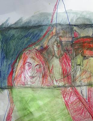 Painting - Travelers On The Train by Judith Redman