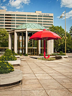 Photograph - Travelers Plaza Before Renovation by Phil Cardamone