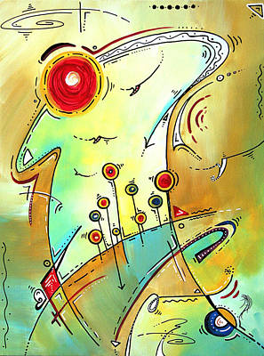 Traveling Band Original Painting Madart Art Print
