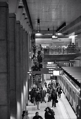 Photograph - Traveling By Subway by Nadalyn Larsen