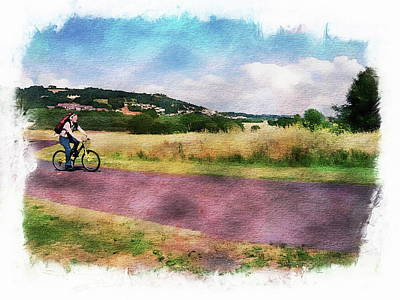 Europe Photograph - Traveling Down The Road by Anthony Dezenzio