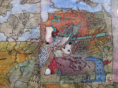 Traveling Mama Mouse Art Print by Susan Parsley