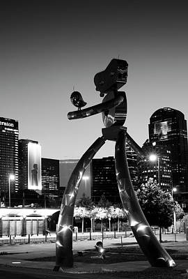 Photograph - Traveling Man Dallas Bw by Rospotte Photography