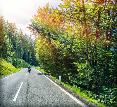 Photograph - Traveling On Motorcycle by Anna Om