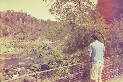 Photograph - Traveling Person Enjoying Cataract Gorge Walk by Jorgo Photography - Wall Art Gallery