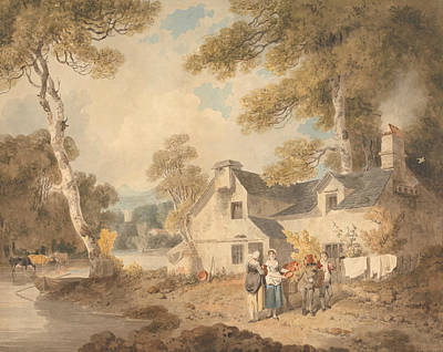 Painting - Traveling Potter Outside A Cottage by Francis Wheatley