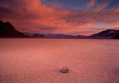 Death Valley Photograph - Traveling Stone by Leland D Howard