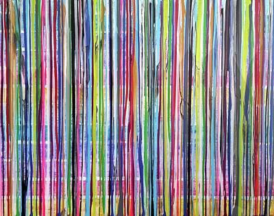 Painting - Traveling Stripes3 by Virginia Erdie