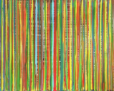 Painting - Traveling Stripes5 by Virginia Erdie