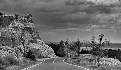 Photograph - Traveling The Badlands by Nadalyn Larsen
