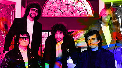 Mixed Media - Traveling Wilburys by Marvin Blaine