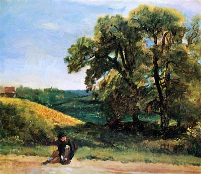 Painting - Traveller by Constable John