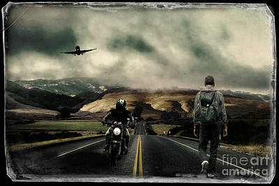 Digital Art - Travellers by Chris Armytage