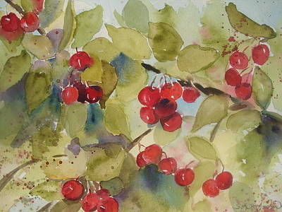Traverse City Cherries Art Print