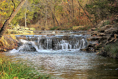 Photograph - Travertine Creek Waterfall by Sheila Brown