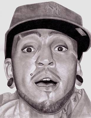 Drawing - Travis Mccoy by Angelee Borrero