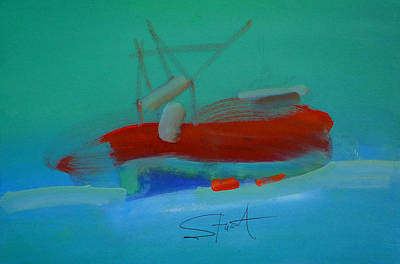 Painting - Trawler by Charles Stuart