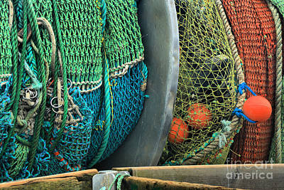 Photograph - Trawler Fishing Nets by Adam Jewell