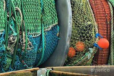 Photograph - Trawler Fishing Nets by Adam Jewell