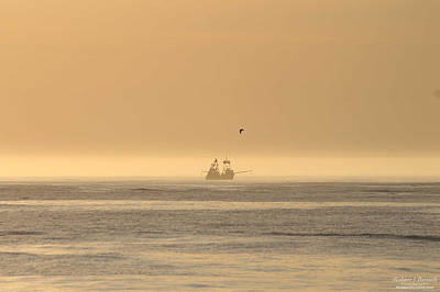 Photograph - Trawler In The Mist by Robert Banach