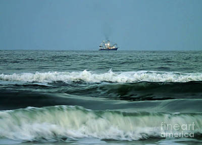 Photograph - Trawler On The Horizon  by D Hackett