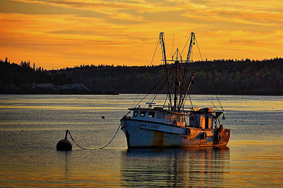 Trawler Sunrise Art Print