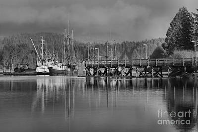 Photograph - Trawlers In Ucluelet Harbor by Adam Jewell