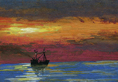 Trolling Painting - Trawling Fish by R Kyllo