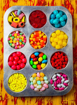 Tray Full Of Candy Art Print by Garry Gay