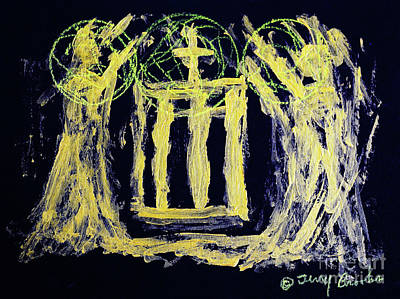 Drawing - Praying For Peace By Terry R. Brooks by Ben Upham