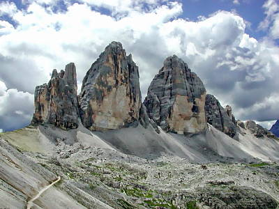 Photograph - Tre Cime Di Lavaredo by Anthony Dezenzio