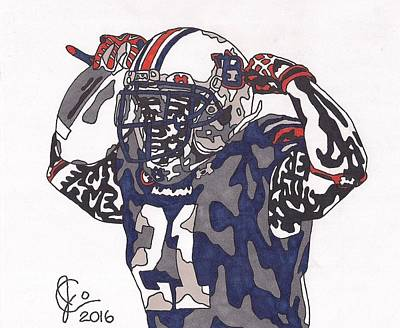 Drawing - Tre Mason by Jeremiah Colley