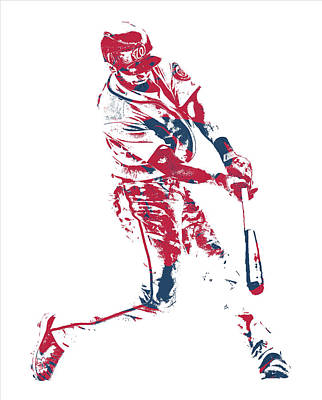 Mixed Media - Trea Turner Washington Nationals Pixel Art 11 by Joe Hamilton