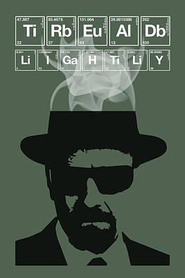 Painting - Tread Lightly - Breaking Bad Poster Walter White Quote by Beautify My Walls
