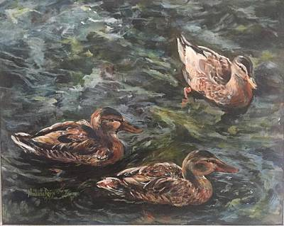 Waterfowl Painting - Treading Trio by Michelle Roise