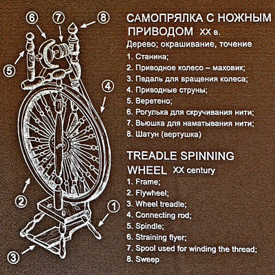 Keith Richards - Treadle spinning wheel. XX century. by Andy i - Za