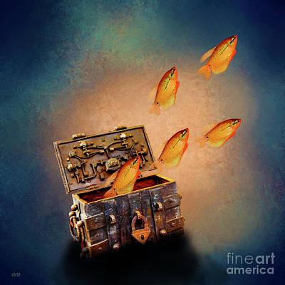 Treasure Chest Art Print by KaFra Art